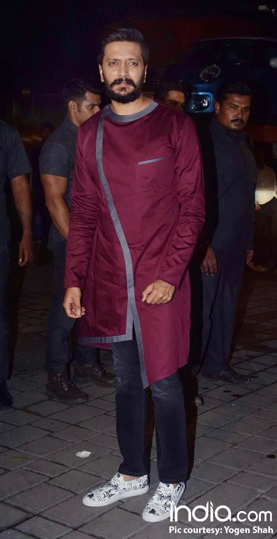 Riteish Deshmukh At Arpita Khan's Diwali bash