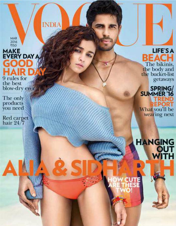 Alia Bhatt and Siddharth Malhotra Vogue India magazine