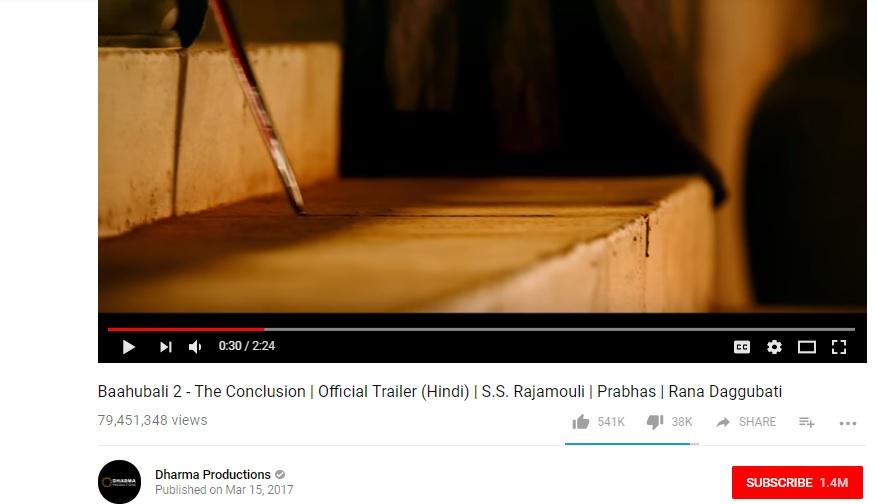 Baahubali official trailer