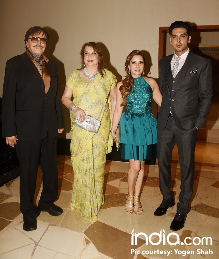 Sussanne Khan's family-- Sanjay Khan and wife, Zayed Khan and his wife