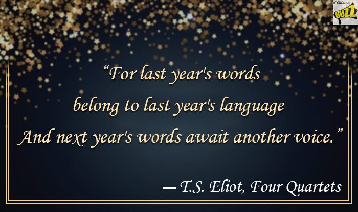 for last years words belong to last years language and next years words await another voice ts eliot four quartets