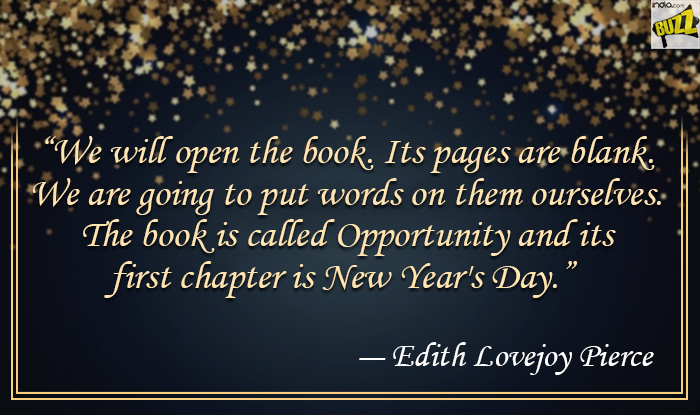 its pages are blank we are going to put words on them ourselves the book is called opportunity and its first chapter is new years day