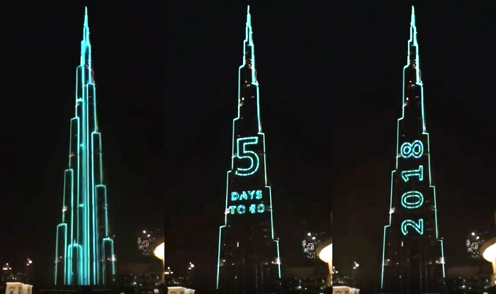 dubais burj khalifa is preparing to break guinness world record with a thunderous light show on
