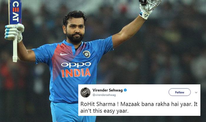 India vs Sri Lanka 2nd T20I: Rohit Sharma hits Fastest T20I Hundred, Twitterati Along With Cricketers Go Berserk