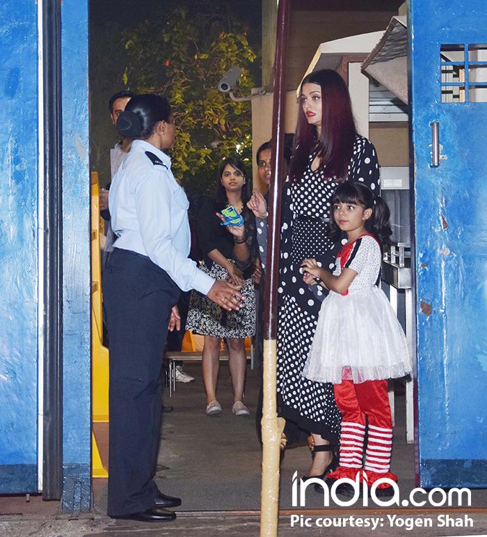 Exes collide! Abhishek-Aishwarya meet Karisma at their kids' annual function!