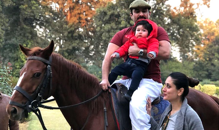 Taimur goes horse riding with Saif