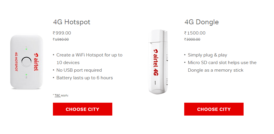 Jio Effect: Airtel 4G Hotspot Price Slashed by 50% to Rs 999, 4G