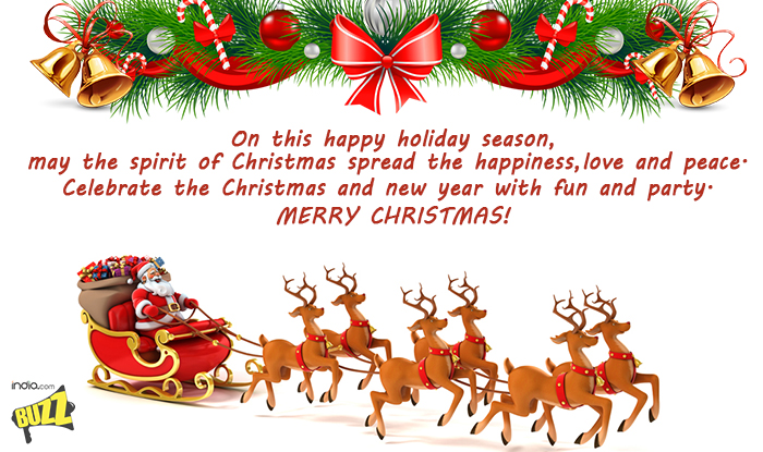 Christmas 2017 wishes best whatsapp messages facebook status sms on this happy holiday season may the spirit of christmas spread the happiness love and peace celebrate the christmas and new year with fun and party m4hsunfo