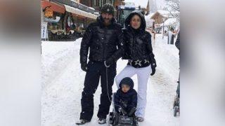Taimur Ali Khan Looks Like An Adorable Snowman As He Enjoys His First Snowfall With Mommy Kareena Kapoor Khan and Daddy Saif