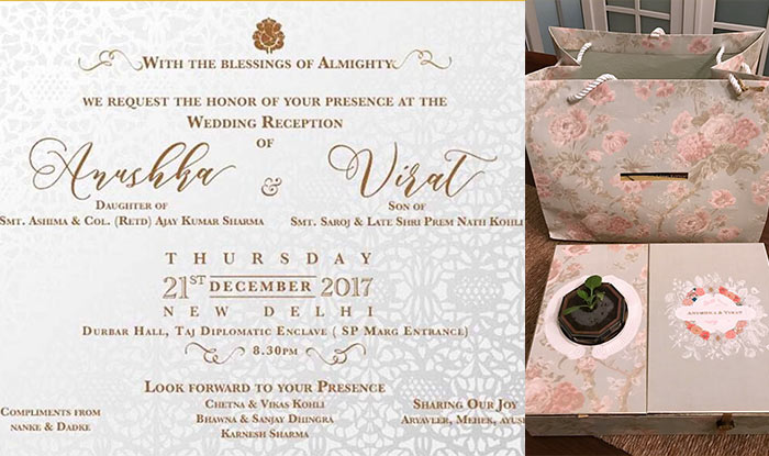 Anushka Sharma And Virat Kohlis Reception Invite Is As Beautiful