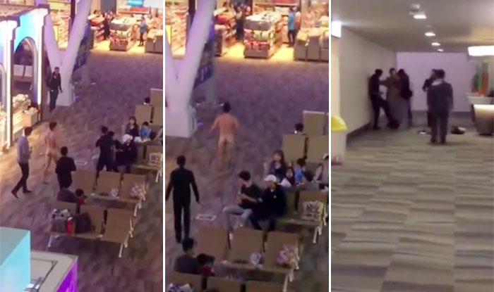 Viagra overdose: Tourist walks naked through airport