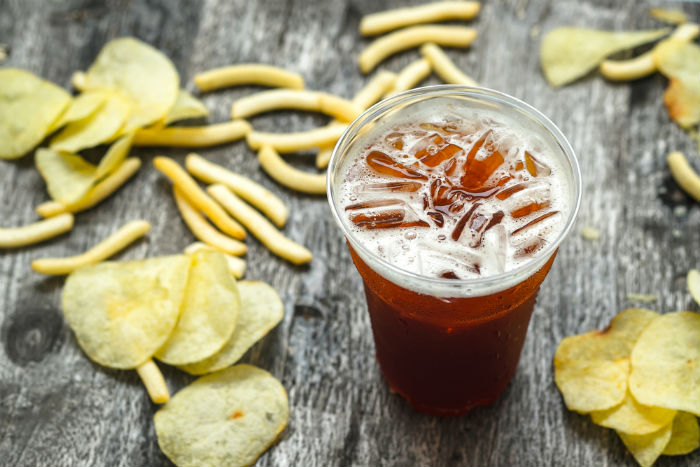 Coke and chips