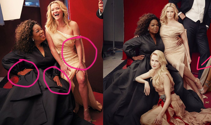 Vanity Fair Cover Photoshoot Gives Extra Limbs To Reese