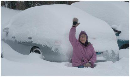 अमेरिका में बर्फबारी