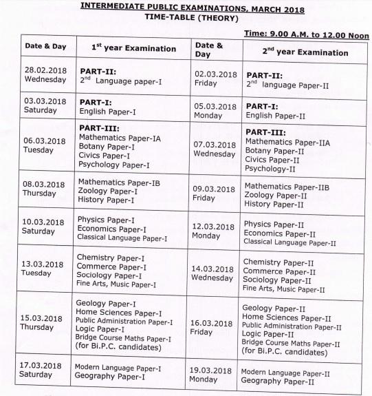 date sheet