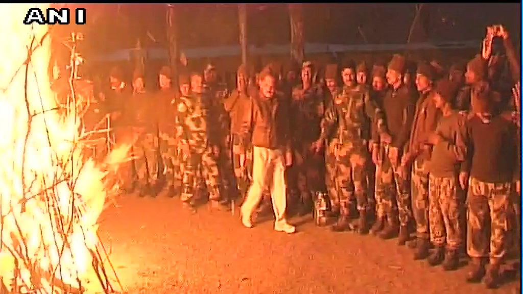 BSF Jawans celebrate Lohri festival in Jammu & Kashmir's Poonch