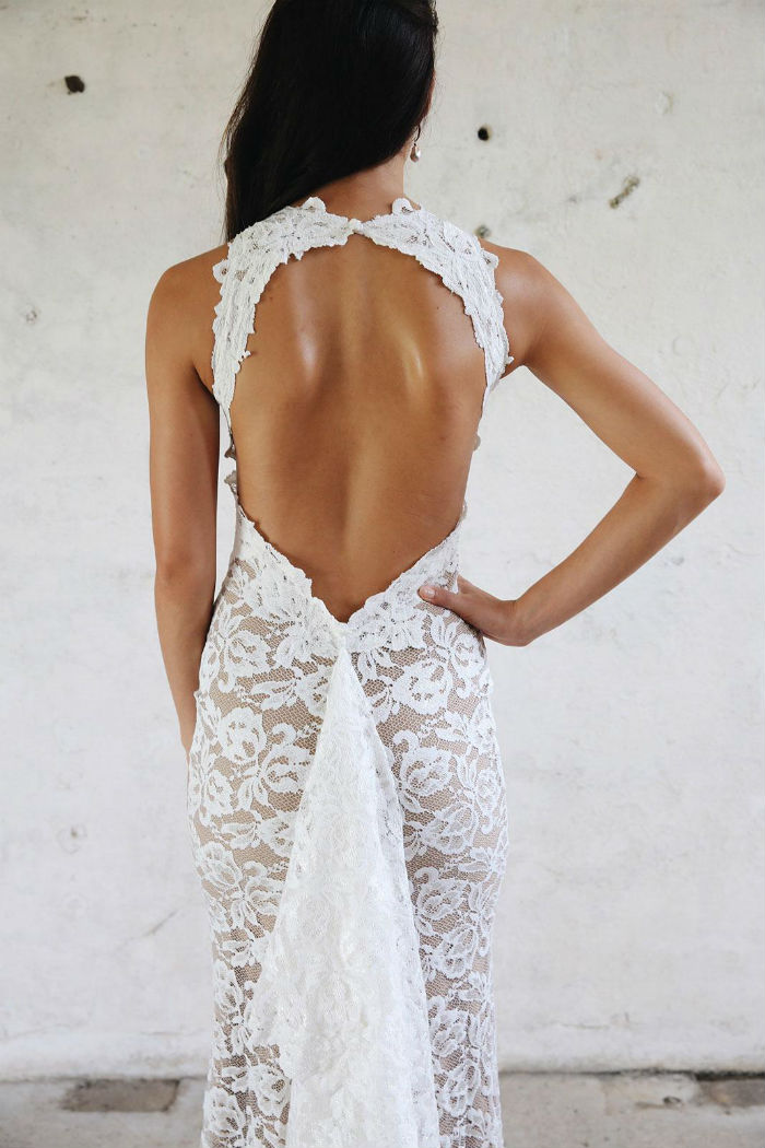 Alexandra gown with low back