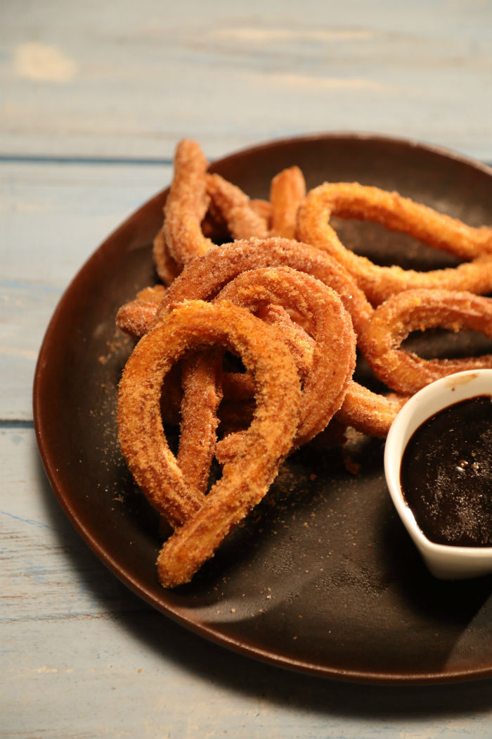 Churros with spicy chocolate