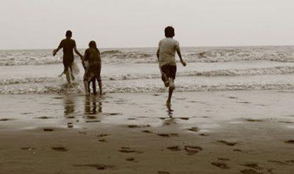 दांडी का समुद्र तट.