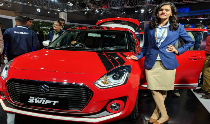 auto expo 2018 maruti swift 2018 launch updates new. Black Bedroom Furniture Sets. Home Design Ideas