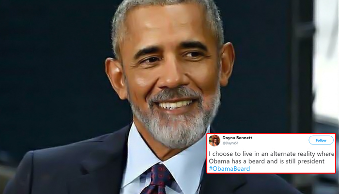 Photo Of Barack Obama Sporting A Beard Goes Viral, Twitter Reacts