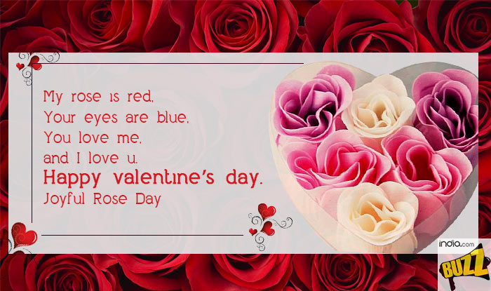 my rose is red your eyes are blue you love me and i love u happy valentines dayjoyful rose day