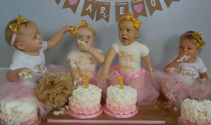 Mother Creates Life Size Edible Cake Versions Of Her Twin