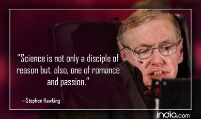 Science is not only a disciple of reason but, also, one of romance and passion