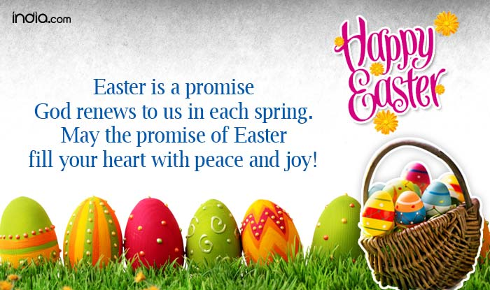 Easter 2018 wishes best easter sms whatsapp messages to send easter is a promise god renews to us in each spring may the promise of easter fill your heart with peace and joy happy easter negle Image collections