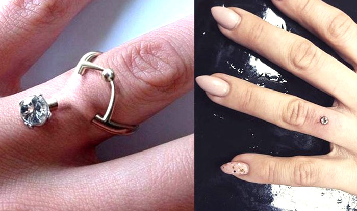 Engagement Piercing Instead Of Wearing Ring Is The Modern