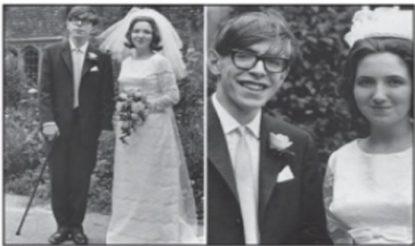 वर्ष 1965 में जेन वाइलेड के साथ हॉकिंग के विवाह की तस्वीर. (फोटो साभारःमहेश शर्मा लिखित पुस्तक 'स्टीफन हॉकिंग')