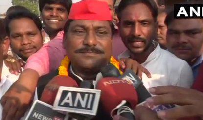 फूलपुर से जीते सपा प्रत्याशी नागेंद्र प्रताप सिंह पटेल.