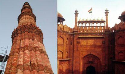 Qutub-Minar-Red-Fort