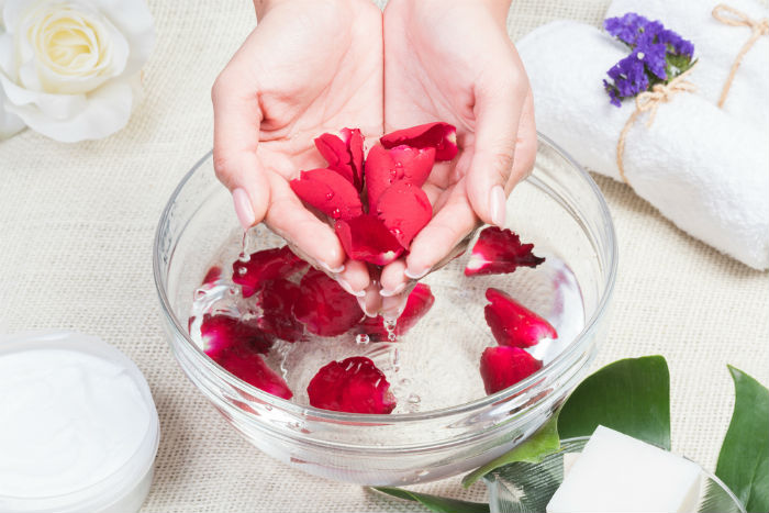 Rose water as toner