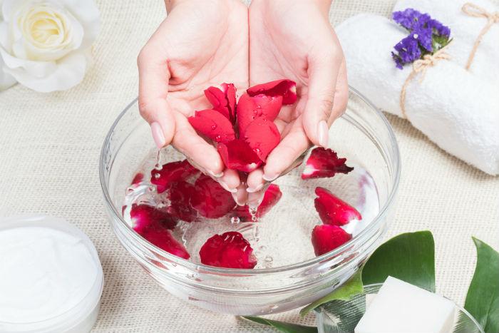 Rose water as toner