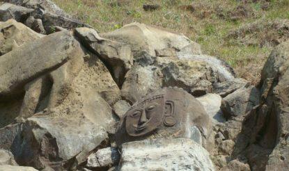 उनाकोटि के जंगल में बनी एक मूर्ति.  (फोटो साभारः त्रिपुरा4यू)