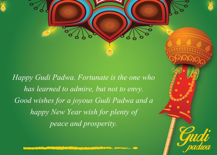 Gudi padwa 2018 best wishes whatsapp messages facebook status good wishes for a joyous gudi padwa and a happy new year wish for plenty of peace and prosperity m4hsunfo