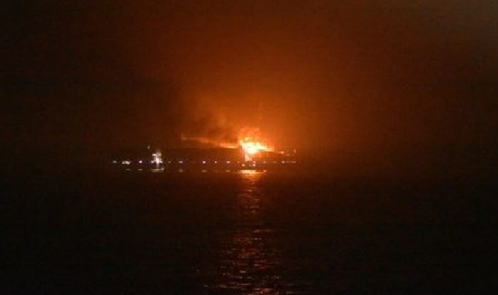 Maersk Container Ship Catches Fire Near Lakshadweep ...