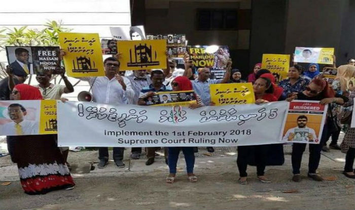 Protesters in Colombo Ask Maldives President Abdulla ...
