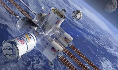 अंतरिक्ष में ऑरोरा स्टेशन.