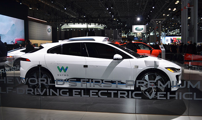 Jaguar Land Rover has partnered with Waymo, formerly the Google self-driving car project, to develop the world's first premium self-driving electric vehicle - the I-Pace.