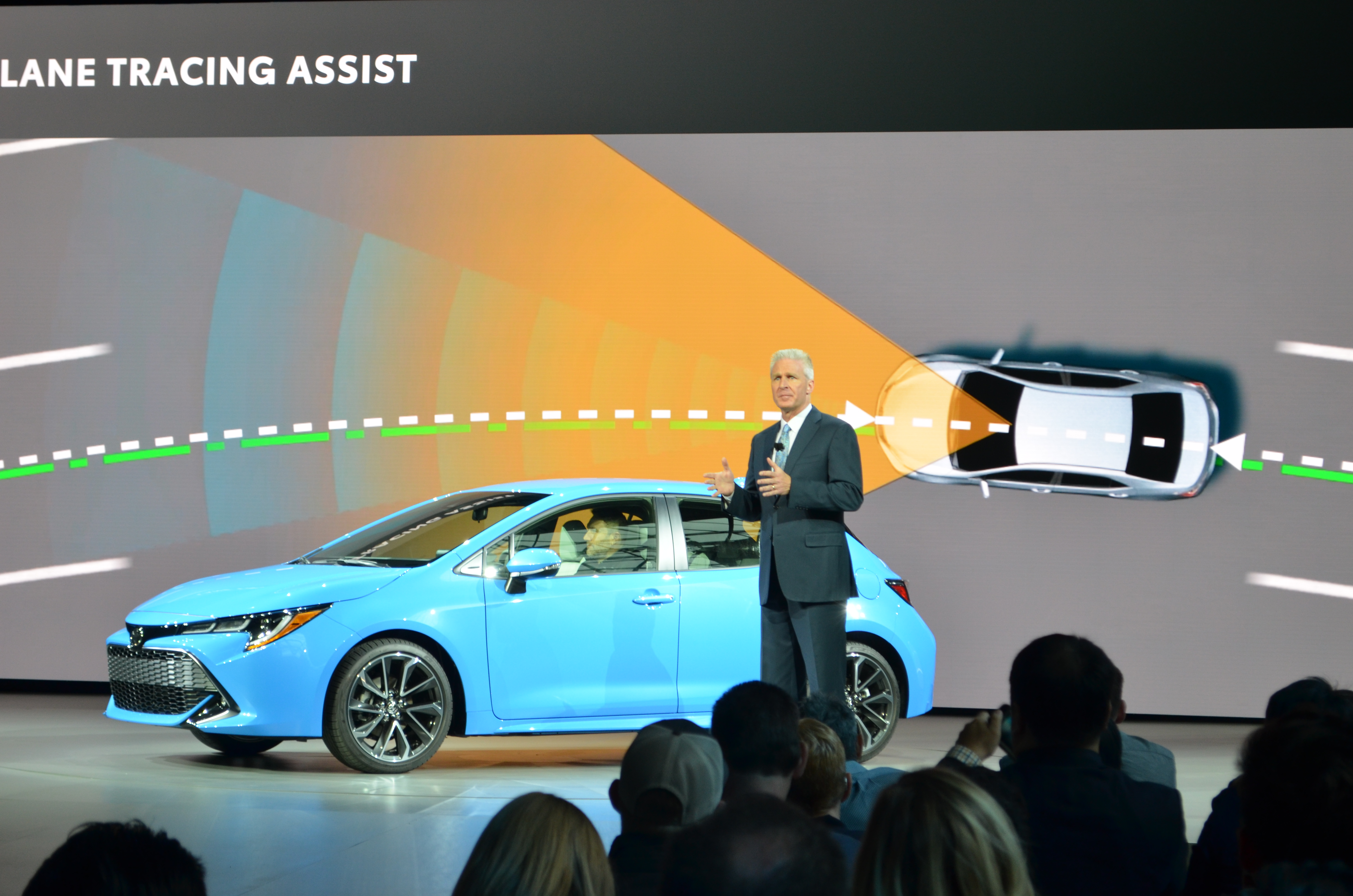 ack Hollis, Group Vice President of U.S. Sales, Unveils New Toyota Corolla Hatchback