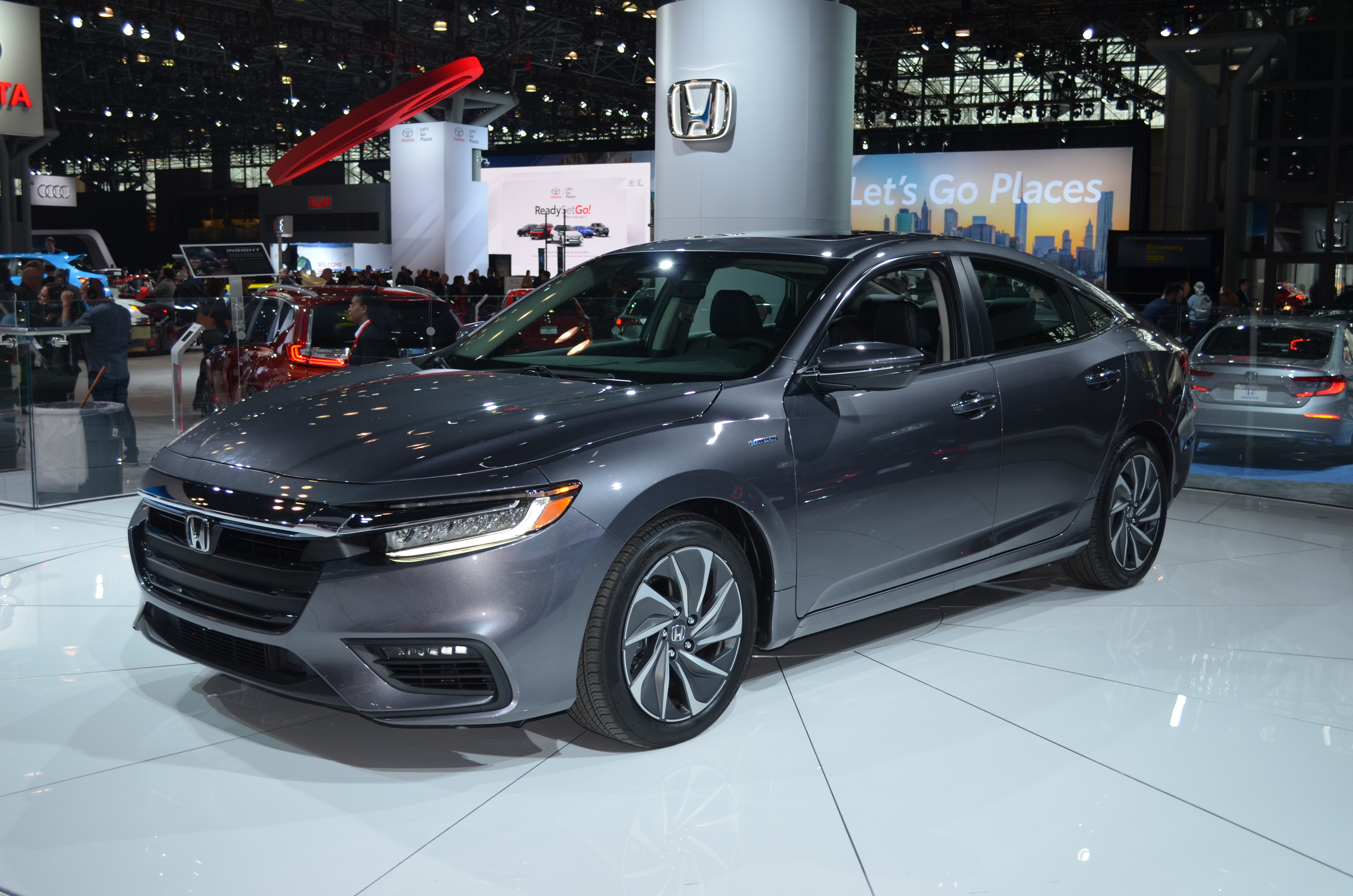 Honda's highly-anticipated 2019 Insight compact hybrid made its global debut at this year's New York International Auto Show. The Insight Hybrid is a spacious, five-passenger sedan that offers an elegant design and an fuel economy range in excess of 50 mpg.