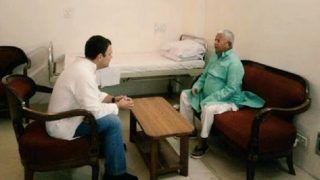 Rahul Gandhi Meets RJD Supremo Lalu Prasad Yadav at AIIMS in Delhi