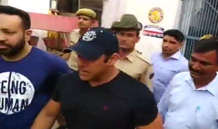 Salman Khan walks out of Jodhpur Central Jail. (ANI)