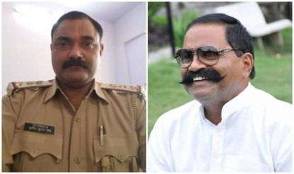 इससे पहले एसओ सुनीत सिंह और इनामी बदमाश लेखराज सिंह का ऑडियो वायरल हुआ था. (दोनों की फाइल फोटो)
