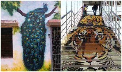 पश्चिमी रेलवे के अधीन महाराष्ट्र के बल्हारशाह रेलवे स्टेशन को देश के सबसे खूबसूरत रेलवे स्टेशन का दर्जा दिया गया है. इस स्टेशन पर वन्य प्राणियों पर आधारित की गई चित्रकारी यहां आने वाले पर्यटकों का ध्यान खींचती है. दीवालों, सीढ़ियों सहित पूरे स्टेशन परिसर पर की गई पेंटिंग्स की पूरे देश में सराहना हो रही है.