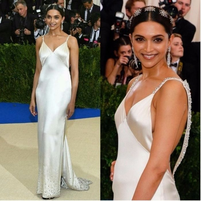 Deepika Padukone scorches Met Gala in red off-shoulder attire