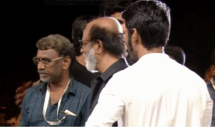 Rajinikanth and Dhanush at Kaala Audio Launch