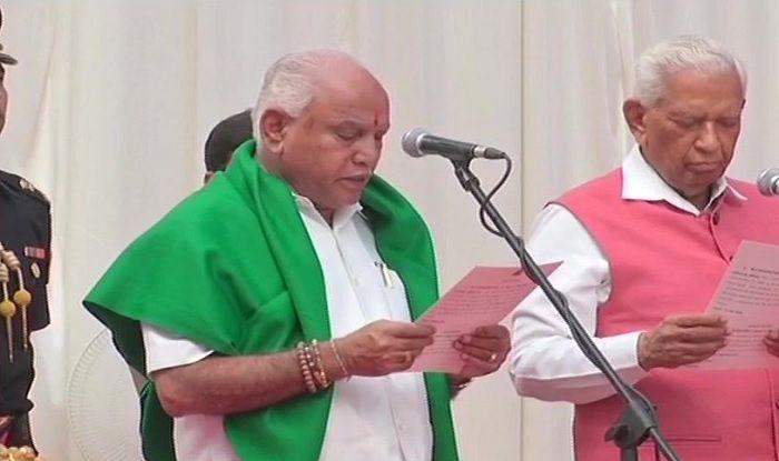 yeddyurappa takes oath as CM